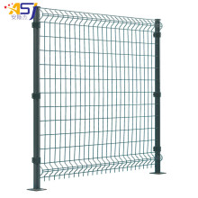 3d curved wire mesh green fencing panels garden
