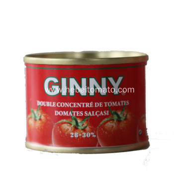 Canned tomato paste in sauce