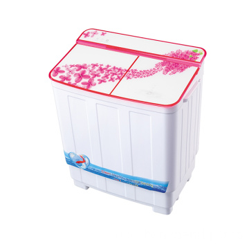 Red Glass Cover 3.8KG Twin Tub Washing Machine