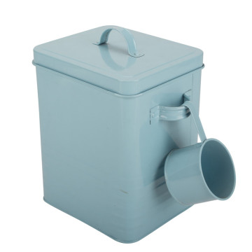 Metal Detergent Powder Box Bin