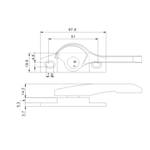 Window Accessories Forging Crescent Lock