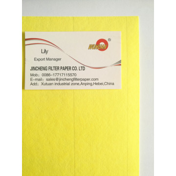 Yellow Panel Air Filter Paper