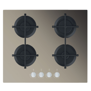 Hobs Smeg Gas Stove 60cm Glass Top