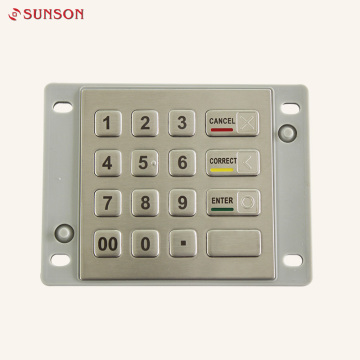 AES Encryption EPP Keypad For Bank Equipment