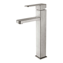 Stainless steel square basin faucet