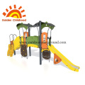 Playground climbing wall panels cargo net