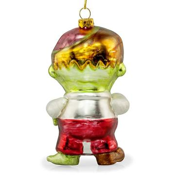 Zombie Shaped Customzied Blown Painted Christmas Glass Ornament