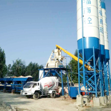Stationary Hopper Lift 75m3/h HZS75 Concrete Batching Plant