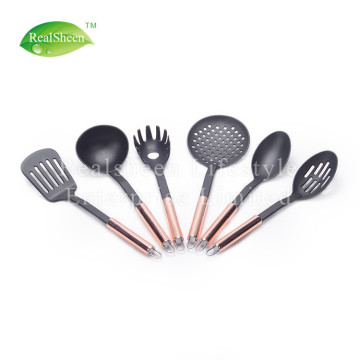 Nylon Utensils Set With Rose Gold Copper Handles