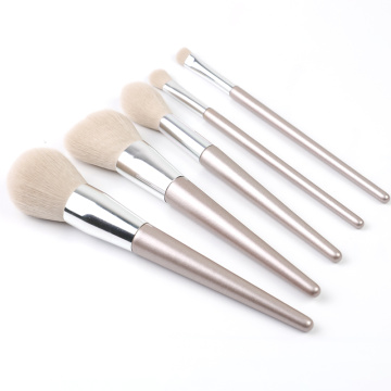 5 sets plus récents pinceaux de maquillage en or rose