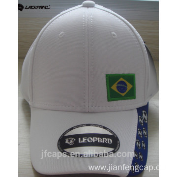 white applique sport baseball hats