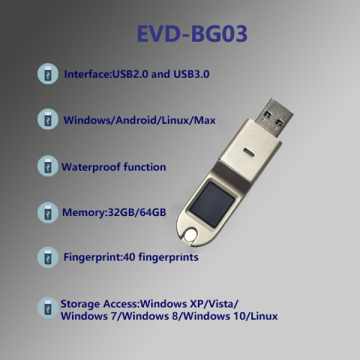 EVD-BG03 Encrypted fingerprint U disk