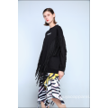 LADIES SWEATSHIRT WITH TASSELS