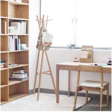 Portable Wooden Cloth Shelf Wooden Coat Rack