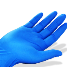 Purple Nitrile Coated Disposable Nitrile Gloves