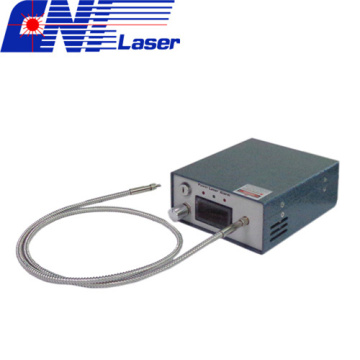 Narrow Linewidth Fiber Coupled Laser for Raman Spectroscopy