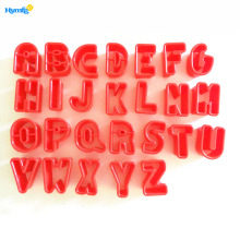 Plastic Alphabet Letter Cookie Biscuit Cutter Set