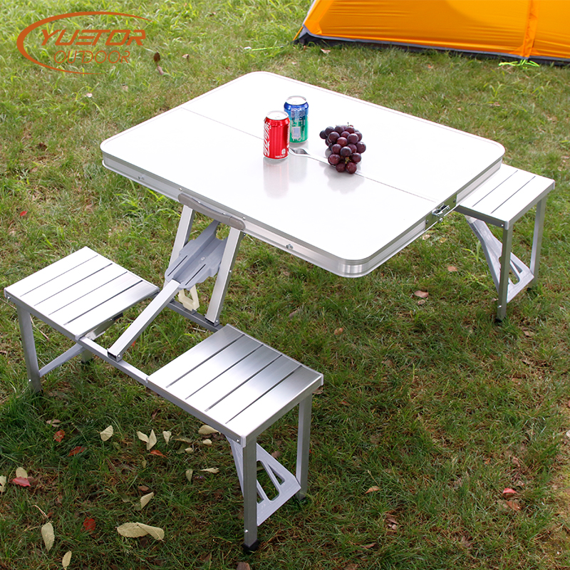 4 Person Folding Camping Table With Seats 6