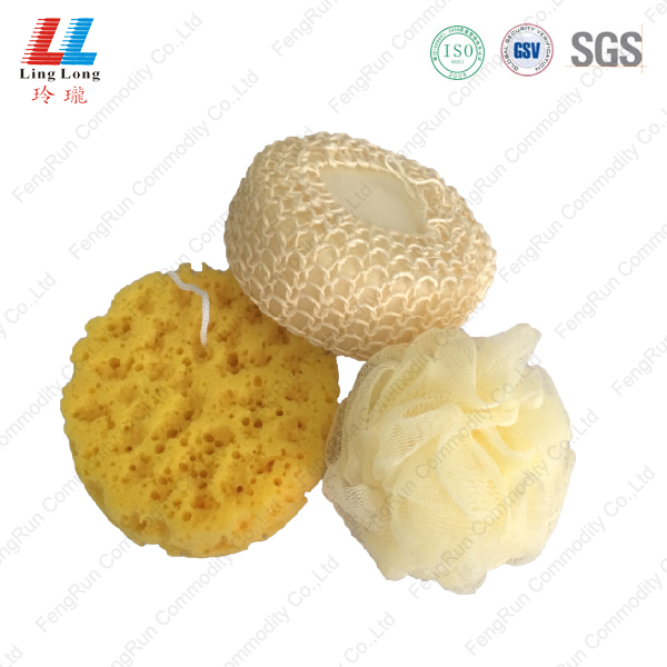 Bath shower washing bath sponge set