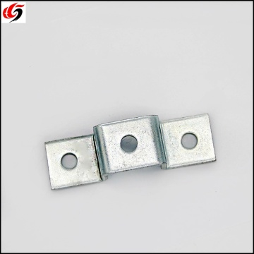 Galvanized Zinc Plated Steel Four-Hole Flat Tee Plate Zinc Plated Steel Stamping Parts