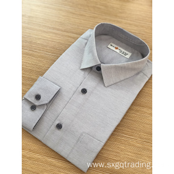 Simple color male formal long sleeve shirt