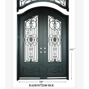 Modern Factory Double Entry Wrought Iron Doors
