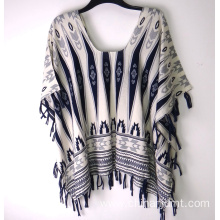 Ladies Printing Kaftan With Tassel