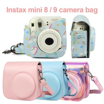 Fuji Fujifilm Instax Mini 9 Mini 8 Camera Bag PU Leather Instant Camera Accessories Shoulder Bag Protector Cover Case With Strap