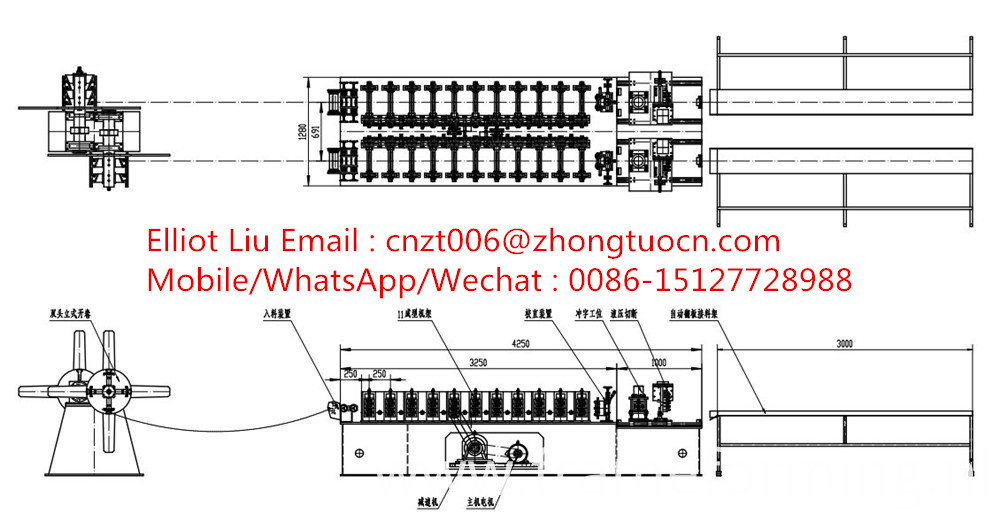 roofing system roll forming machine