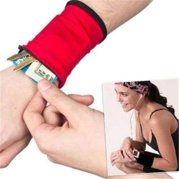 Wrist Wallet Pouch Arm Band Bag For MP3 Key Card Storage Bag Case Wristband Sweatband Coin Purses