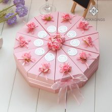 Wedding party use recycled paper favor candy box