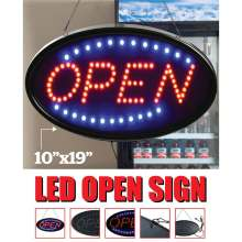 LED Store OPEN Sign Business Shop Bar Neon Signs Bright Advertising Light Board Animated Motion Store Billboard Window Display