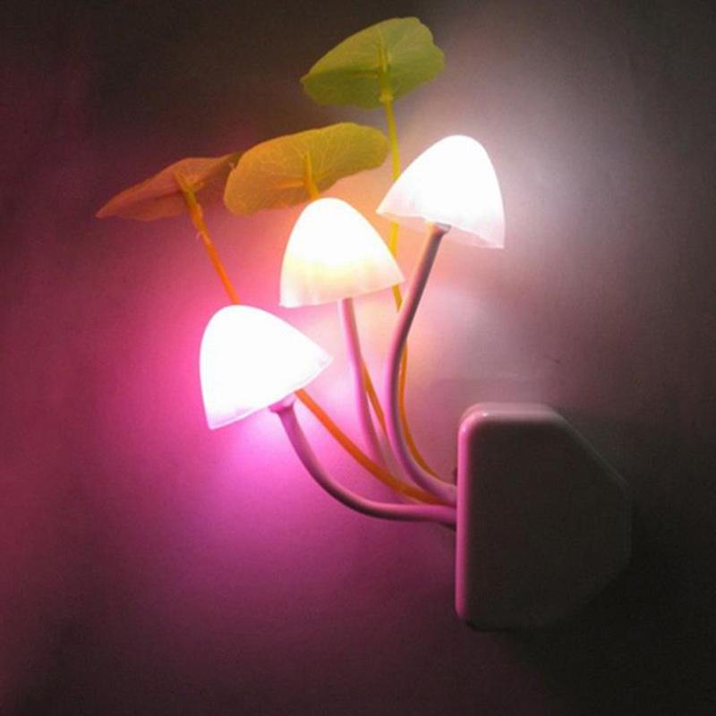 Creative Sensor Night Light Mushroom LED Lamp Romantic Colorful Home Decor EU/US Plug New