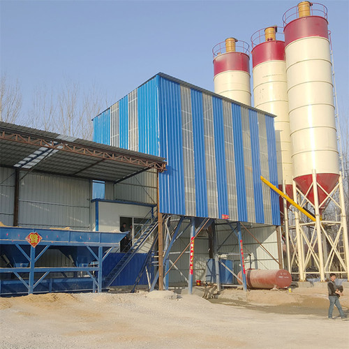 Mini concrete batch plant 75m3/h  for sale