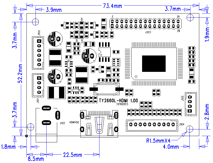 HDMI LCD Controller drawing 2660L