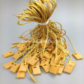 Yellow 20cm small tag with polyester cord