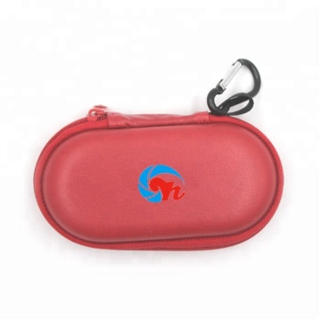 Red Leather EVA Camera Lens case With Carabiner