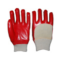 Red Single Dipped PVC Glove