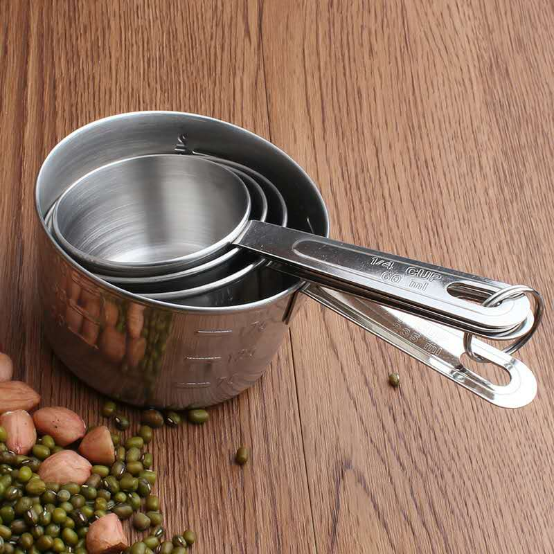 18/8 Stainless Steel Measuring Cup Set