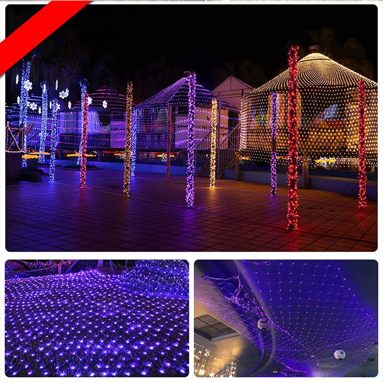 christmas battery led net lights