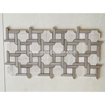 Modern Style Mosaic Bathroom Floor Tile
