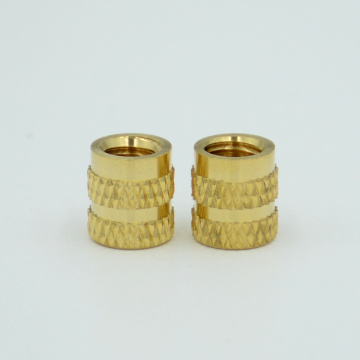 press in knurled  brass insert nut