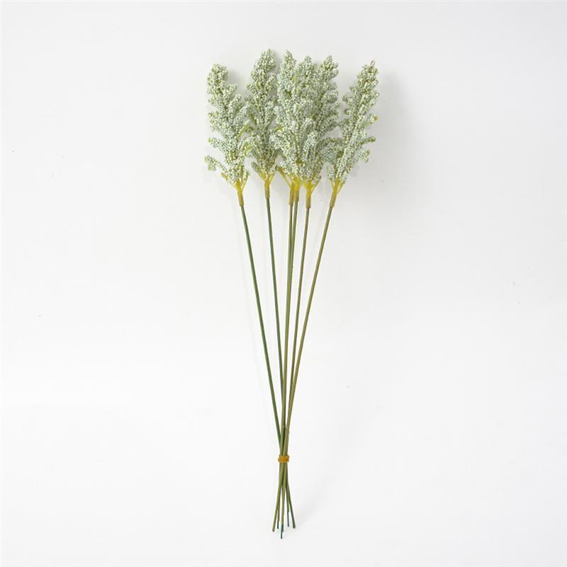 6pcs Artificial Wheat Ear Flower Artificial Flowers for Wedding Party Decoration DIY Craft Scrapbook Home Decor Wheat Bouquet