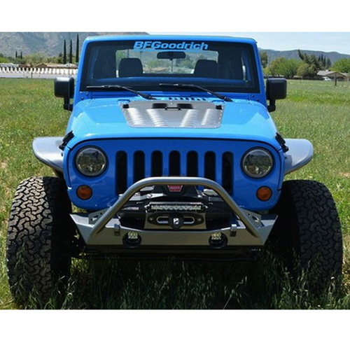 Single Tube Stubby Wrangler Front Bumper