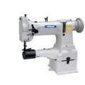Single Needle Cylinder Arm Compound Feed Heavy Duty Lockstitch Sewing Machine