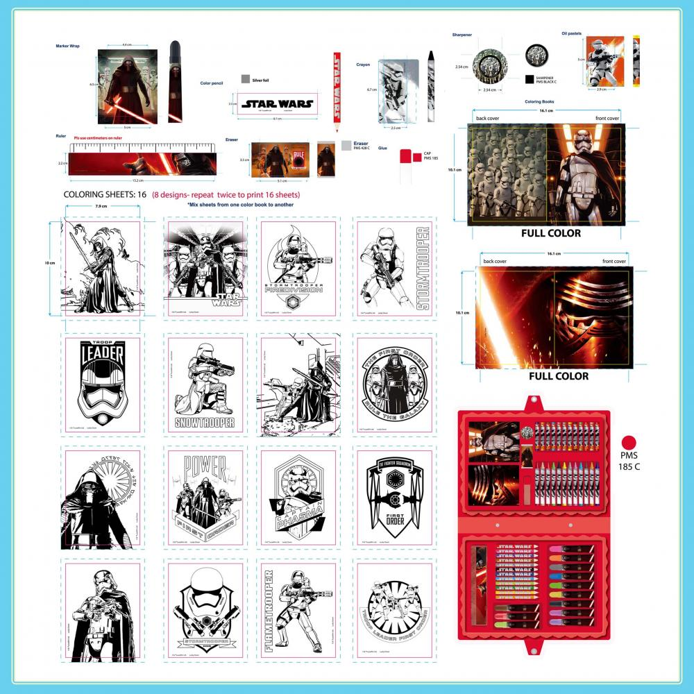 Star Wars 54 Pieces Art Set 2