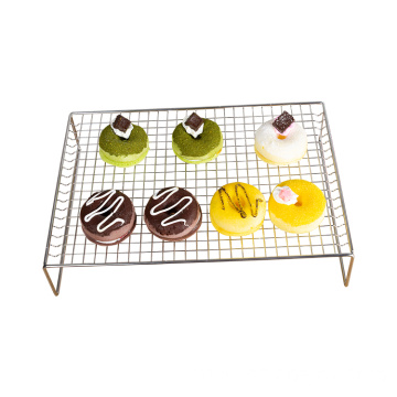 Cooling rack 3-layer stainless steel stackable baking cooking rack barbecue folding and heavy-duty oven cooling rack