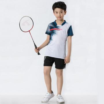Badminton shirt for boys  in functional fabric