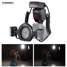 Yongnuo YN24EX E TTL Macro Flash Speedlite for Canon EOS 1Dx 5D3 6D 7D 70D 80D Cameras with 2pcs Flash Head + 4pcs Adapter Rings