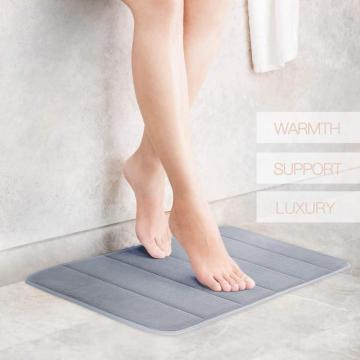 Comfity Grey Memory Foam Bath Mat Set